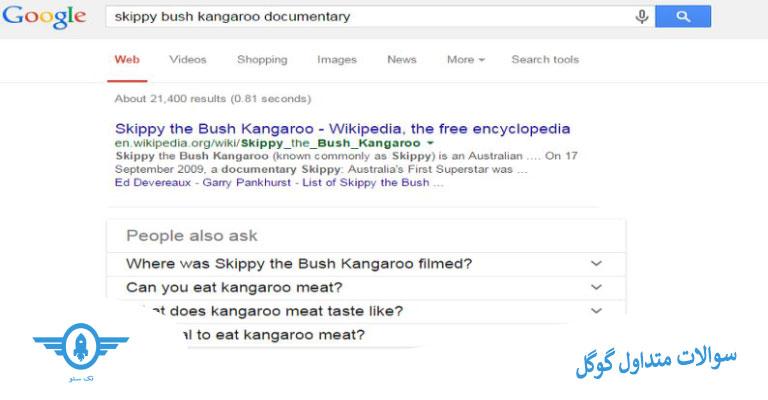 سوالات متداول گوگل برای یافتن کلمات کلیدی